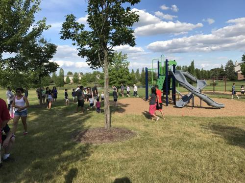 Playground ribbon cutting